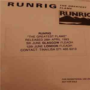 Runrig - The Greatest Flame (Promo)
